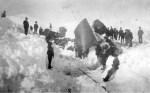 1889 Train Wreck Vintage Nevada Postcard