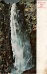 Bridal Veil Falls Yosemite Vintage Postcard
