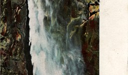 Bridal Veil Falls Vintage Yosemite Postcard