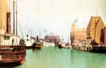 Vintage Postcard of the Harbor in Buffalo, New York in 1900