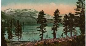 Vintage Donner Lake Postcard written by Patty Reed