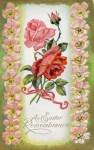 Easter Roses Vintage Postcard
