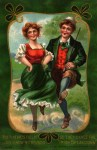 Irish Dance Vintage Postcard