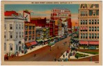 Vintage Postcard of Main Street in Buffalo, New York