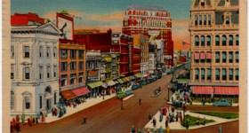 Vintage Postcard of Main Street in Buffalo, New York