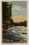 White Water Rapids Vintage Postcard