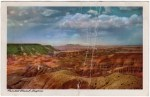 Arizona vintage postcard of the Painted Desert
