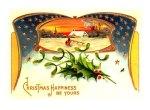 Patriotic Vintage Christmas Postcard