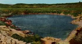 Vintage Colorado postcard of Pogosa Spring
