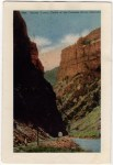 Vintage Colorad Postcard of the Second Tunnel in Royal Gorge