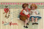 Vintage Postcard of Victorian Children