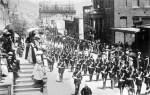 Vintage Postcard of a Parade in Virginia City, Nevada