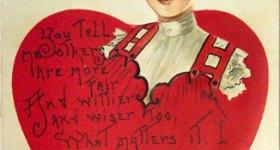 Vintage Valentine Love Postcard with Poem