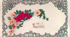 Vintage Art Nouveau Valentine Postcard
