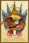Sons of Veterans Vintage Postcard