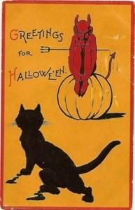 Sam Gabriel Halloween Series 122. Retro Cat Devil. 1912