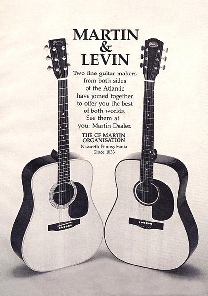 In 1972 negotiations between the C. F. Martin & Co. and Levin results in that C. F. Martin & Co. purchases Levin in June 1973.