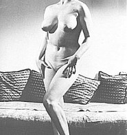 Vintage MILF topless in the living room