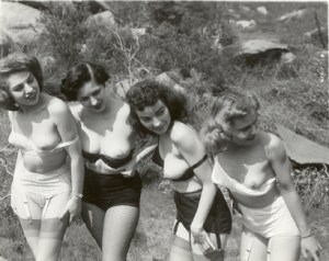 with unknown vintage naked models