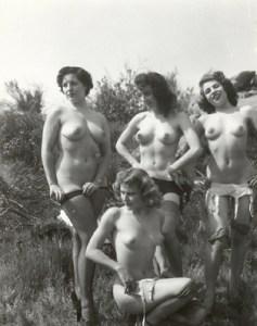 Unknown retro nude models