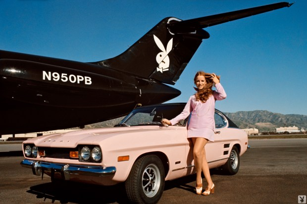 _Claudia with the Playboy Jet