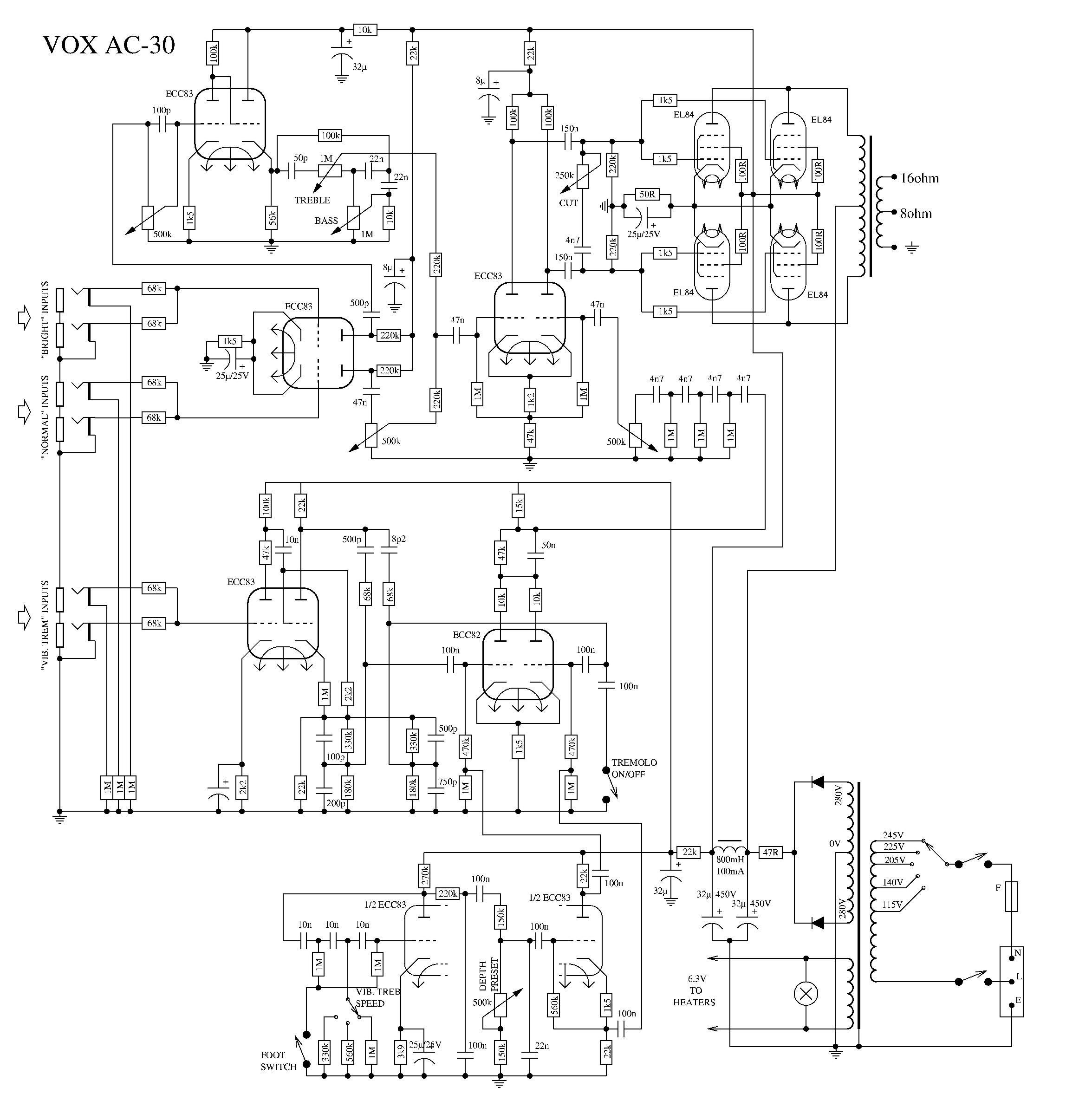 Ac30 Style Amp