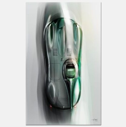 Dams_jaguar_Dtype_Art_kunst_gray