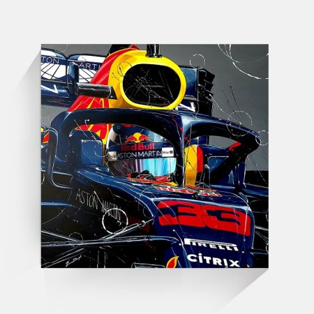 Max_verstappen canvas print halo f1 2019 60x60 shop