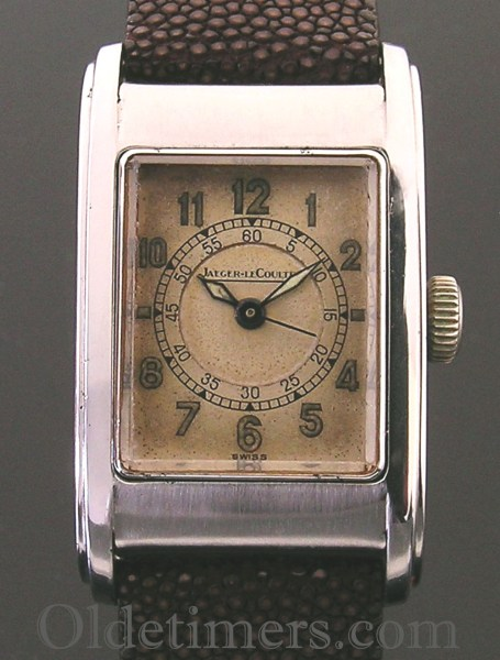 1930s steel rectangular vintage Jaeger LeCoultre watch (3040)