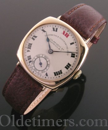 1930 9ct gold vintage Goldsmiths & Silversmiths watch (3616)