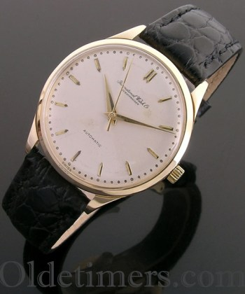 1960s 18ct gold vintage I.W.C. Automatic watch (3785)