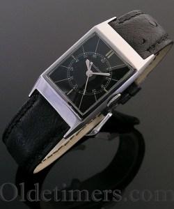 1930s steel vintage Jaeger LeCoultre watch (3818)