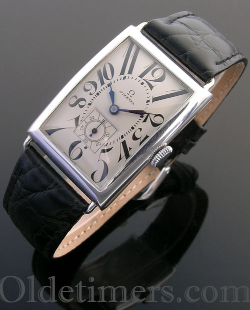 1920s silver rectangular vintage Omega watch (3837)