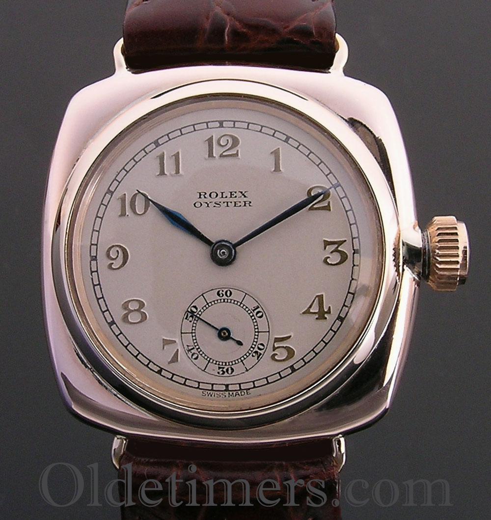 1920s 9ct rose gold vintage rolex oyster watch olde timers for Vintage rolex oyster