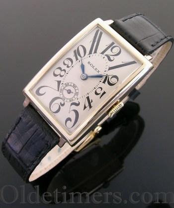 1930s 9ct gold rectangular vintage Rolex watch
