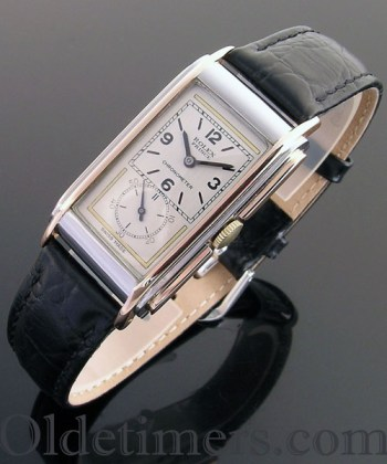 1930s gold and steel vintage Rolex Prince 'Railway' watch