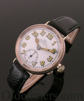 1915 9ct rose gold vintage IWC (International Watch Company) watch