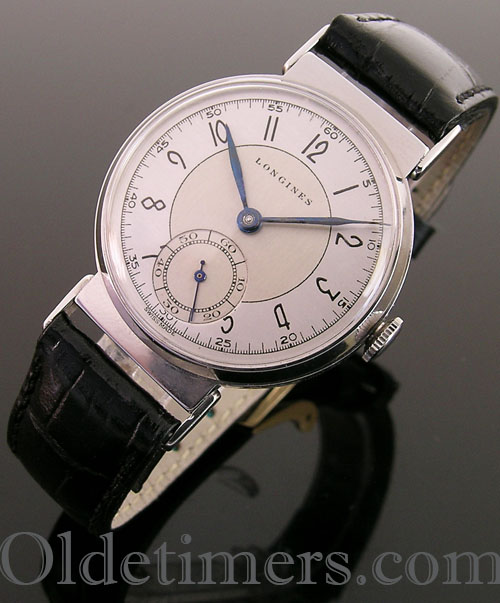 1940s steel round vintage Longines watch (3555)