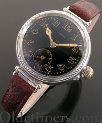 1920s early round silver vintage Longines watch retailed by Mappin