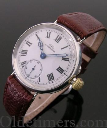 1912 silver vintage I.W.C. (International Watch Company) watch
