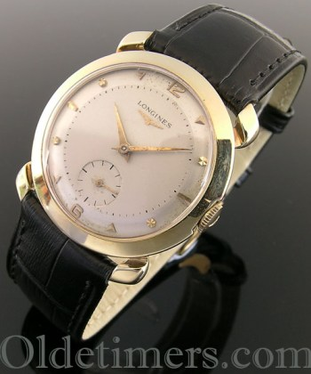 1940s 14ct gold round vintage Longines watch (3500)