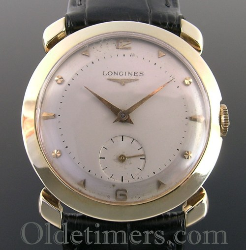 1950s 14ct gold round vintage Longines watch (3500)