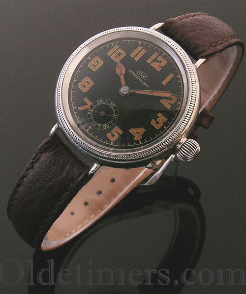 1916 silver Borgel vintage IWC 'Officers' watch (3754)