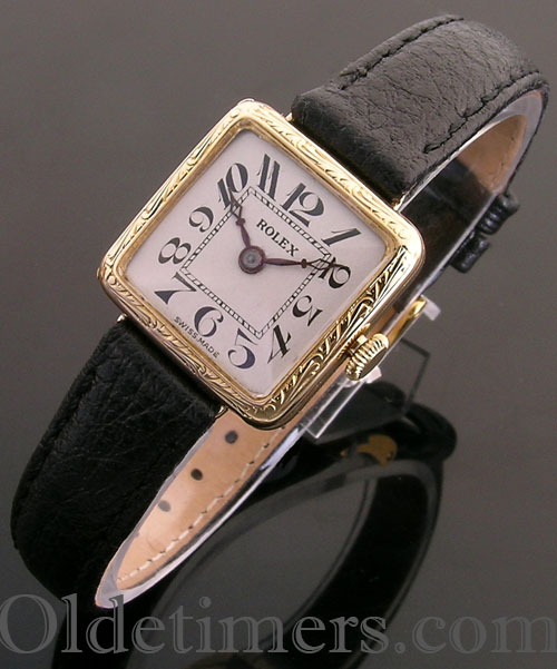 1920s 9ct gold square vintage Rolex watch (3743)