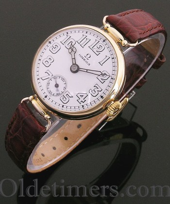 1920s 18ct gold round vintage Omega watch