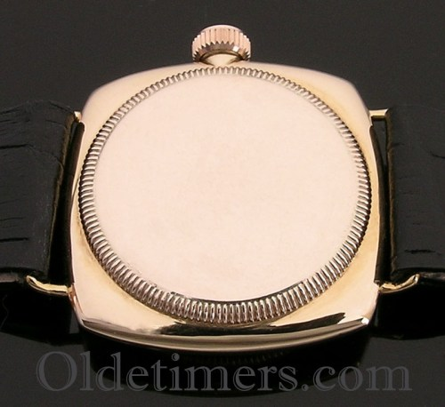 1920s 9ct gold cushion vintage Rolex Oyster watch