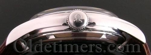 1940s round steel vintage Omega watch