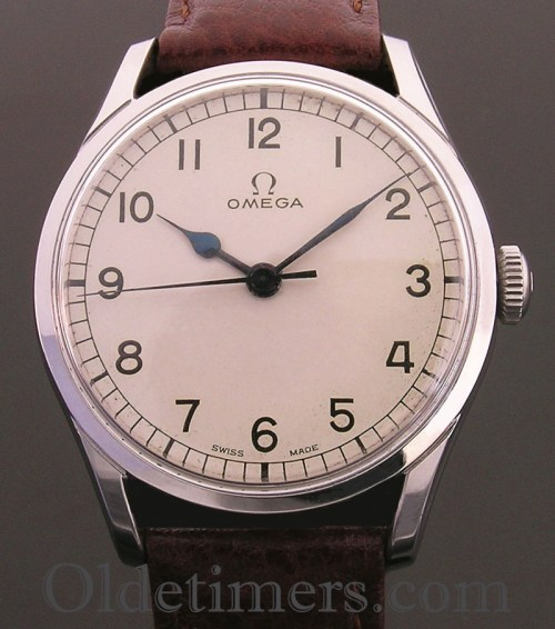 1940s round steel vintage Omega watch