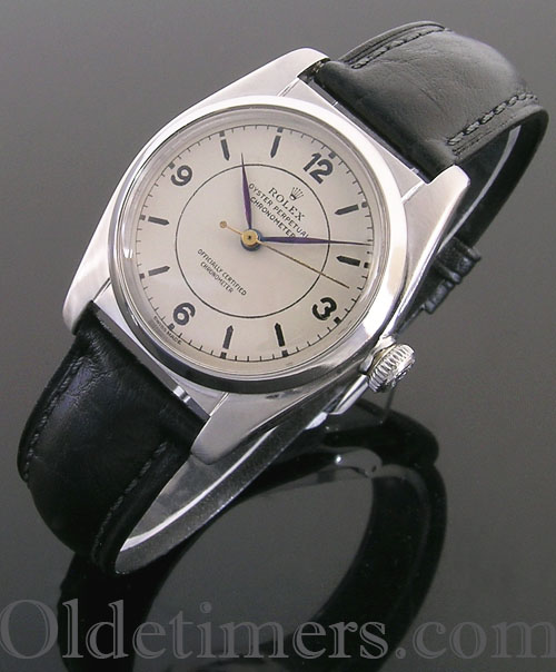 1940s steel vintage Rolex Oyster 'Bubbleback' watch (3879)