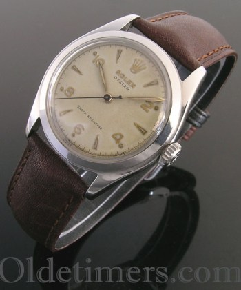 1950s steel vintage Rolex Oyster watch